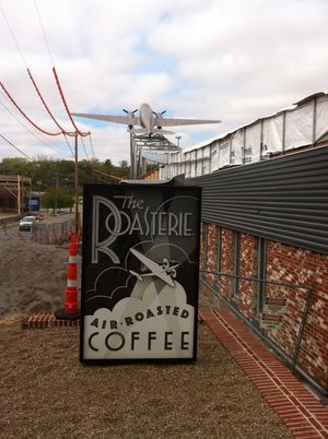 The new Roasterie airplane