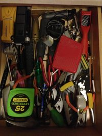 Clean tool drawer. Yippee!