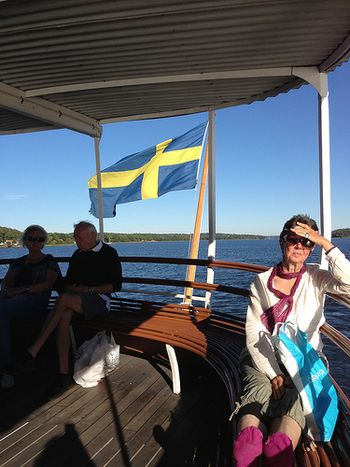 Swedish people minding their own business, as usual. On a boat!