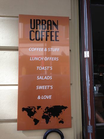 American-style coffee shop that ended up having the worst coffee of the entire trip, not to mention the apostrophes.