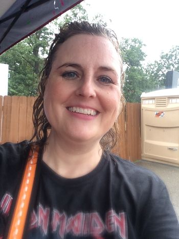 Rained-on selfie at Uproar Festival