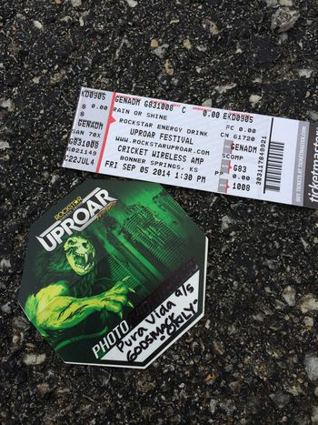 Uproar Festival ticket and photo credential